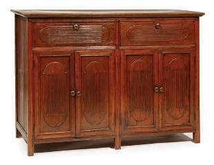 Philippine Carved Mahogany Cabinet