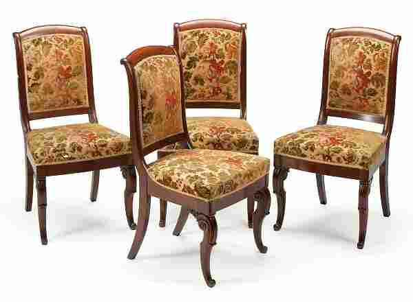 Four Louis Philippe Mahogany Side Chairs
