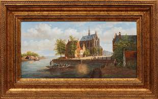 Reproduction on Canvas of an English Town