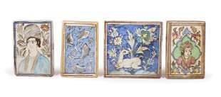 Four Persian Ceramic Tiles