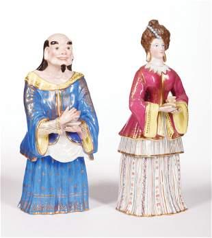 Jacob Petit Paris Porcelain Figural Scent Bottles