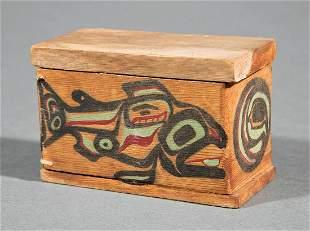 Haida or Tlingit Bentwood Box and Cover