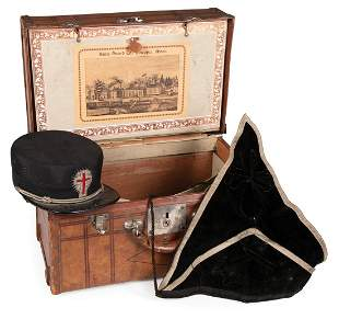 Knights Templar Hat and Carrying Case