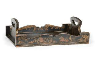 English Chinoiserie Book Carrier
