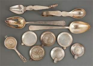 Mexican Silver Salad Serving Fork & Spoon Sets
