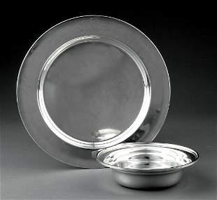 American Sterling Silver Circular Tray