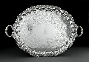 Silverplate Oval Tea Tray