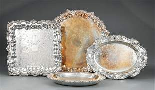 Silverplate Trays and Serving Dishes