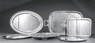 Group of Silverplate Trays and Platters