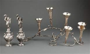 Silverplate Trumpet Vase Centerpiece