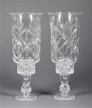 Pair of Cut Crystal Photophores