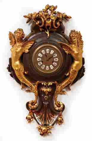 Empire-Style Figural Wall Clock
