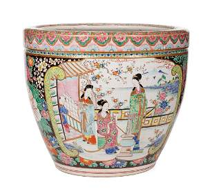 Chinese Famille Rose Porcelain Jardiniere