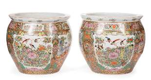 Chinese Famille Rose Porcelain Fish Bowls