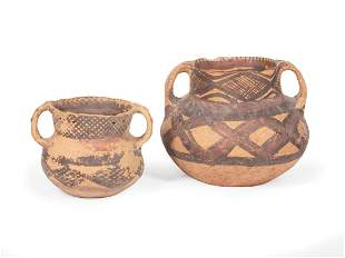 Two Chinese Neolithic Painted Pottery Vases