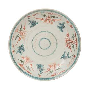 Chinese Swatow or Zhangzhou Porcelain Charger