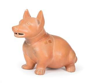 Colima-Style Pottery Dog