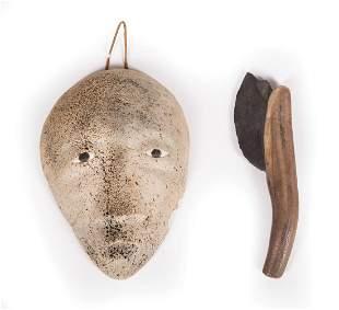 Eskimo Blade and Carved Stone Head