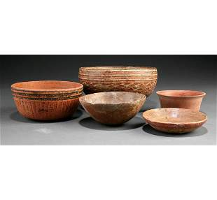 Group of Five Pre-Columbian Pottery Bowls