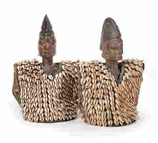 Two African Carved Wood Ibeji Figures