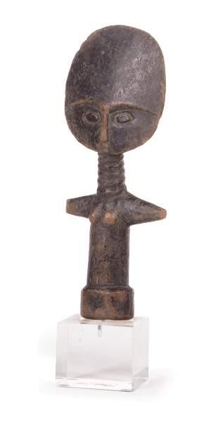 African Carved Wood Akua'ba Fertility Doll