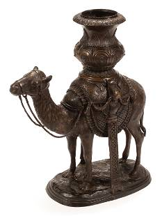 Patinated Bronze Camel Planter