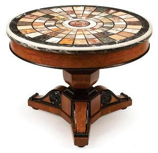 Parcel Ebonized Mahogany Center Table