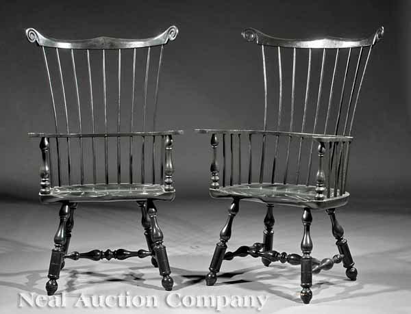 "0001: Pair of ""Mt. Vernon"" Windsor Armchairs"