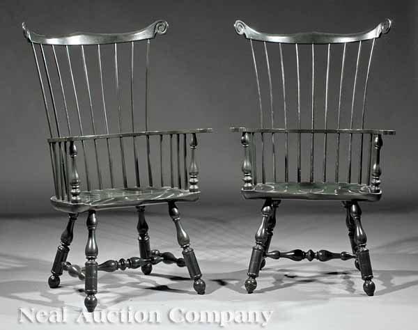 "0002: Pair of ""Mt. Vernon"" Windsor Armchairs"
