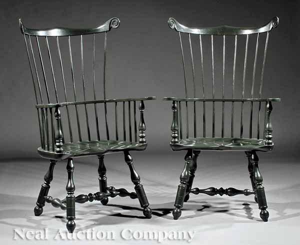 "0003: Pair of ""Mt. Vernon"" Windsor Armchairs"