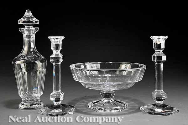 0009: Val St. Lambert Art Glass Footed Bowl