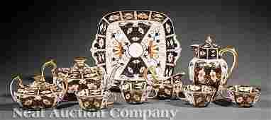 0286: Royal Crown Derby Porcelain Tea Service