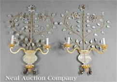 0353: Pair of Bagues-Style Rock Crystal Sconces