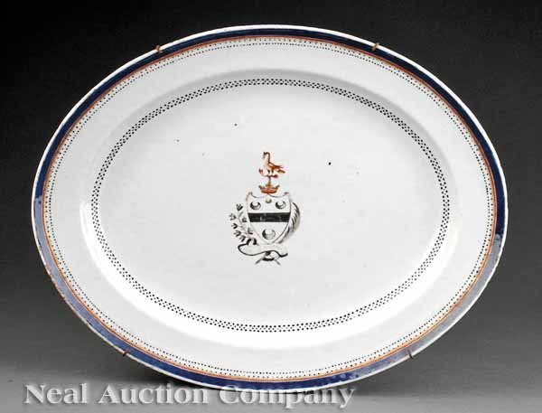 0682: Chinese Export Porcelain Armorial Platter