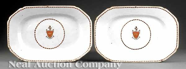 0683: Chinese Export Porcelain Armorial Platters