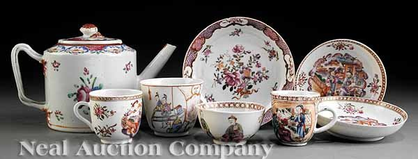 0684: Famille Rose Porcelain Table Articles