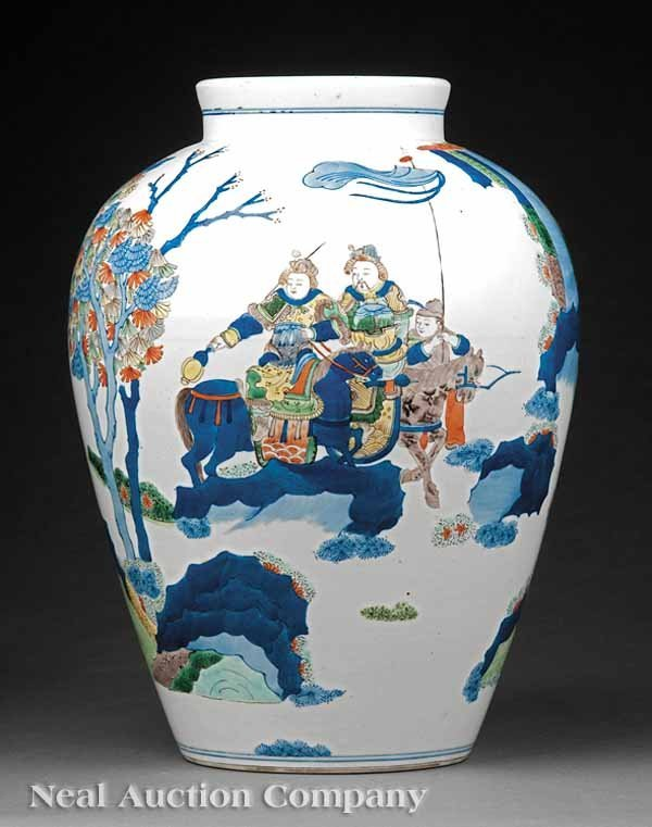 0685: Chinese Famille Verte Porcelain Vase