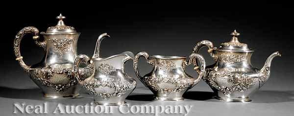 0698: Gorham Sterling Silver Coffee & Tea Service