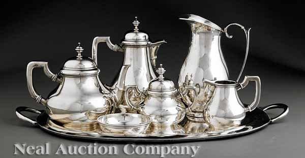 0854: Sanborns Mexico Sterling Coffee & Tea Service