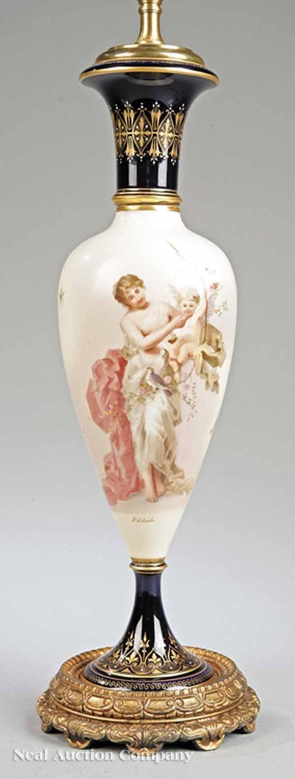 1111: A German Porcelain Vase Depicting Venus and Cupid