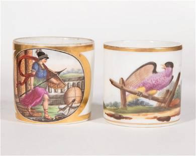 Two Paris Porcelain Cups