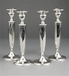 Four American Sterling Silver Candlesticks