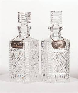 Pair of Cut Crystal Decanters