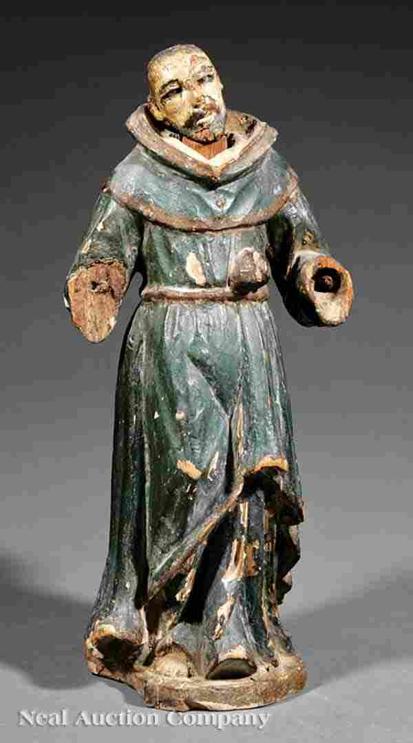 0002: Carved Polychromed Wood Santo Figure
