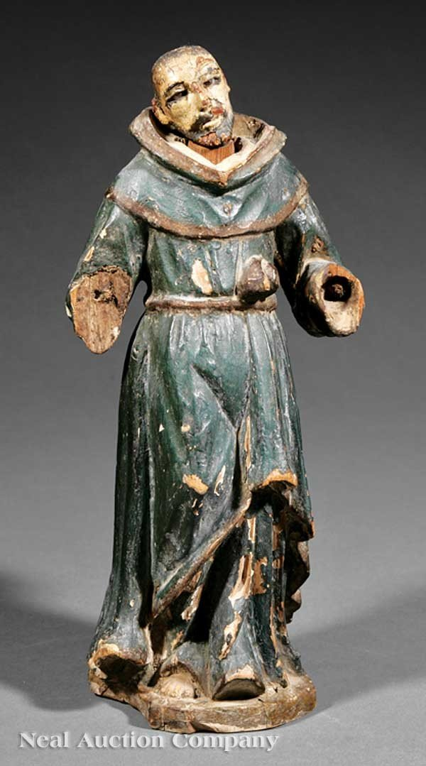 0002: Carved Polychromed Wood Santo Figure