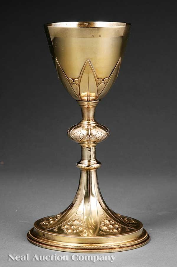 0004: French Silver Gilt Chalice
