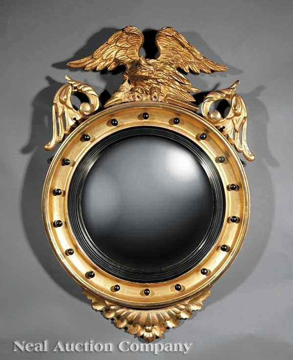 0015: Regency-Style Carved and Gilded Bullseye Mirror