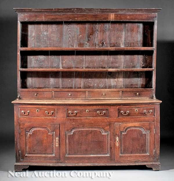 0021: George III Elm and Oak Welsh Dresser