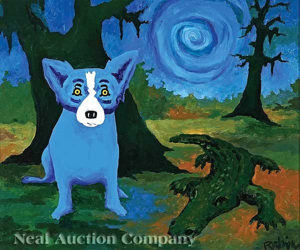0342: George Rodrigue (American/Louisiana, b. 1944)