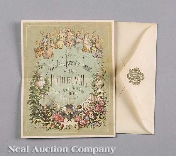 0588: Mistick Krewe of Comus Ball Invitation, 1870